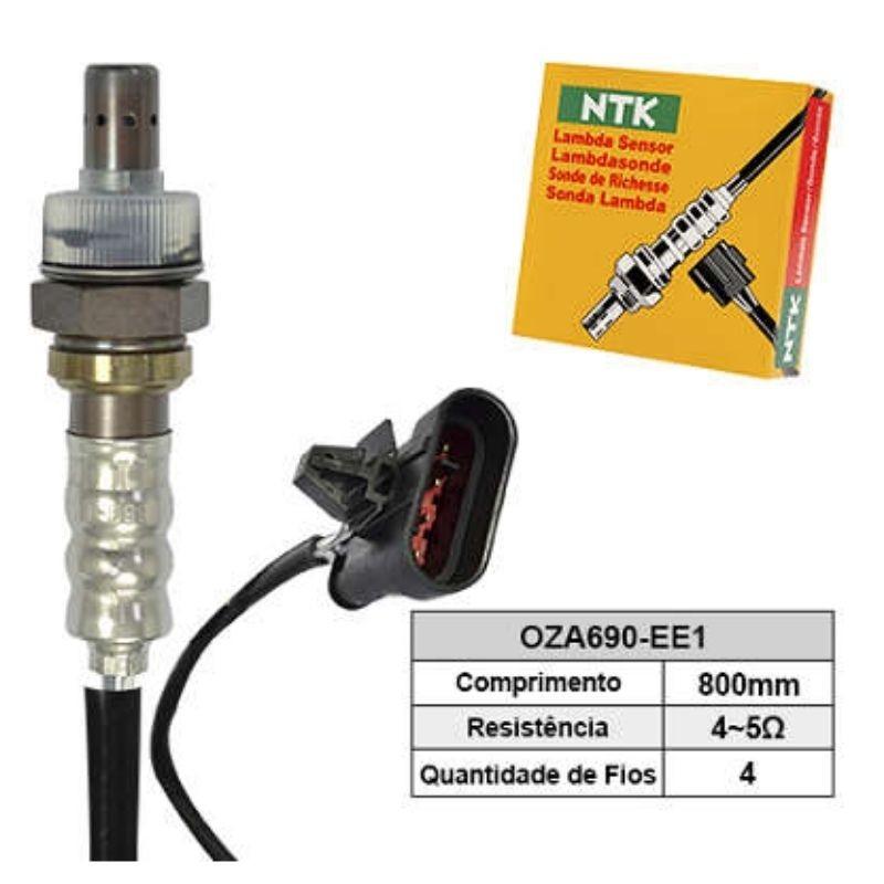 Sensor de Oxigenio Sonda Lambda - Fiorino 1996 a 2001 / Palio 1996 a 2004 / Palio Weekend 1996 a 2004 / Siena 1996 a 2004 - Oza690-Ee1  - Conexao Brasil Autopeças