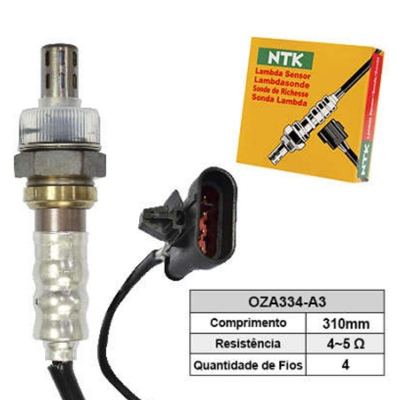 Sensor de Oxigenio Sonda Lambda - Fiorino 2003 a 2007 / Palio 2000 a 2006 / Palio Weekend 2002 a 2006 / Siena 2002 a 2008 - Oza334-A3  - Conexao Brasil Autopeças