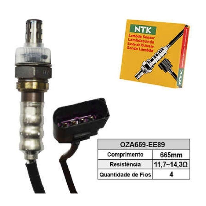 Sensor de Oxigenio Sonda Lambda - Fox 2008 a 2012 / Gol 2008 a 2015 / Saveiro 2010 a 2012 / Space Cross 2012 a 2015 / Voyage 2008 a 2010 - Oza659-Ee89  - Conexao Brasil Autopeças