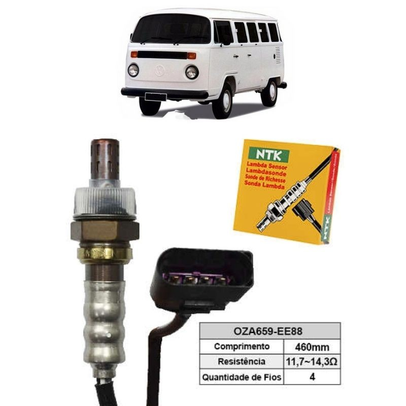 Sensor de Oxigenio Sonda Lambda - Kombi 2008 a 2012 - Oza659-Ee88  - Conexao Brasil Autopeças