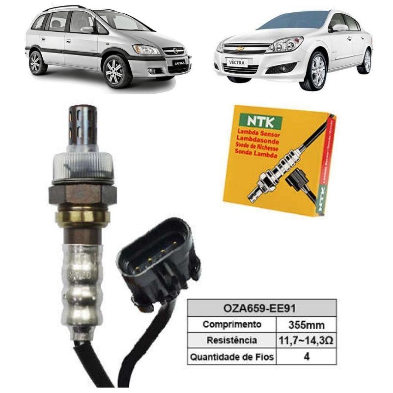 Sensor de Oxigenio Sonda Lambda - Vectra 2004 a 2009 / Zafira 2004 a 2009 - Oza659-Ee91  - Conexao Brasil Autopeças