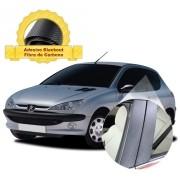Adesivo Blackout 206 (2 porta) p/ Coluna de Porta Fibra de Carbono