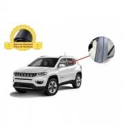 Adesivo Blackout Jeep Compass Coluna de Porta Fibra de Carbono