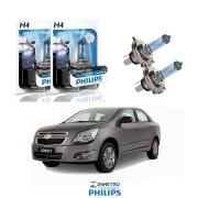 Lâmpadas Farol GM Cobalt até 2015 Philips H4 BlueVision