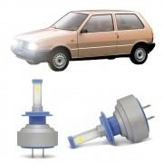 Lâmpadas LED H7 6000k Farol Baixo Fiat Uno City /Smart City 1999-2001