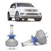Lâmpadas LED H7 6000k Farol Baixo Volkswagen Touareg 2006-2014