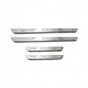 Soleiras de Aço Inox Escovado Chevrolet Celta
