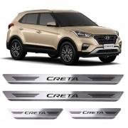 Soleiras de Aço Inox Escovado Hyundai Creta