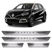 Soleiras de Aço Inox Escovado Renault Captur