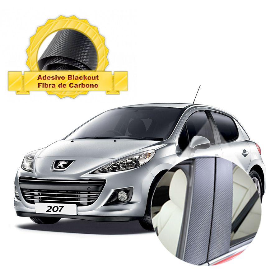 Adesivo Blackout 207 Hatch p/ Coluna de Porta Fibra de Carbono