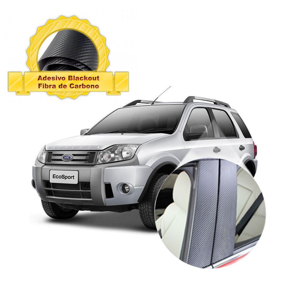 Blackout Ecosport até 2012 Coluna de Porta Fibra de Carbono