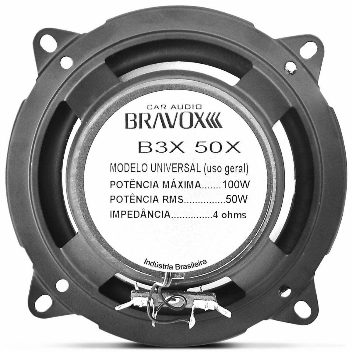 "Alto Falante 5"" Polegadas Triaxial Bravox 100w RMS (B3X50X)"