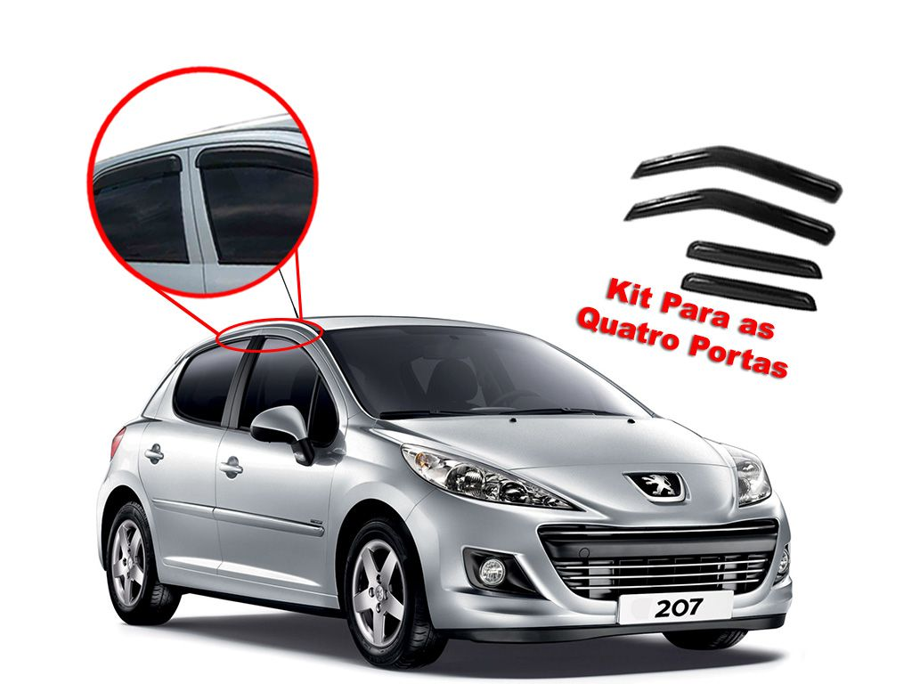 Calha de chuva 207 4 portas Peugeot 01 - 15