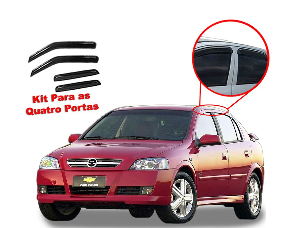 Calha de chuva Astra Hatch 4 portas Chevrolet