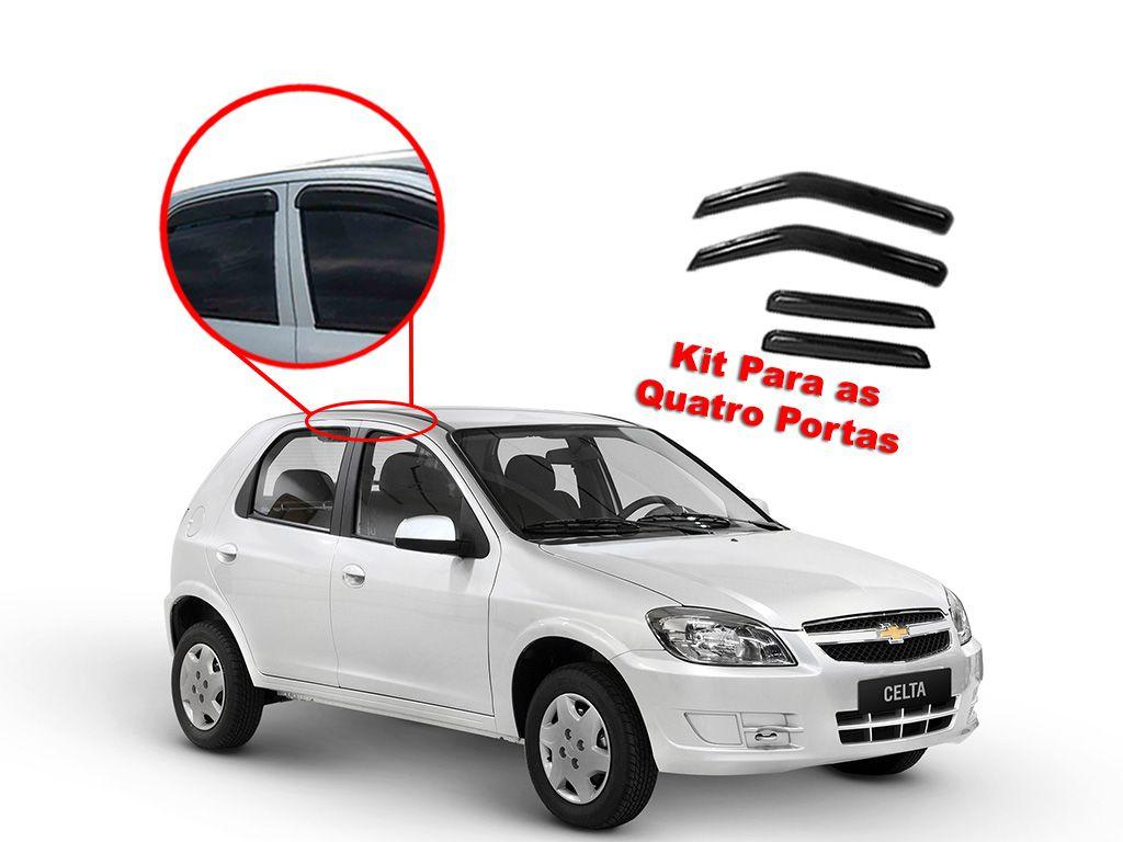 Calha de chuva Chevrolet Celta 4 portas