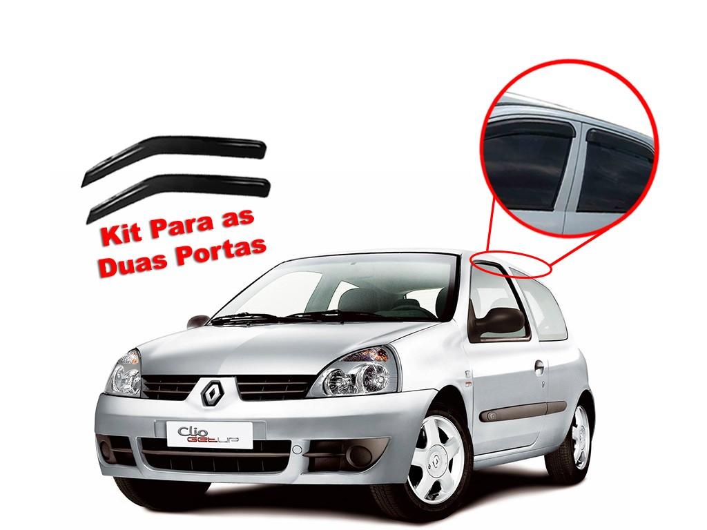 Calha de chuva Clio 04/15 2 portas Renault