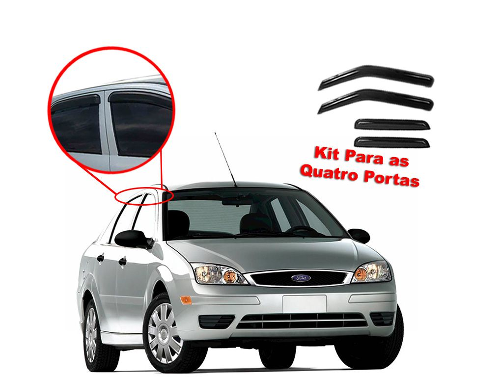 Calha de chuva Focus Sedan 02/08 4 portas Ford