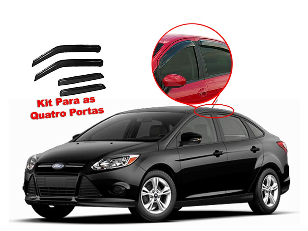 Calha de chuva Focus Sedan 14/16 4 portas Ford