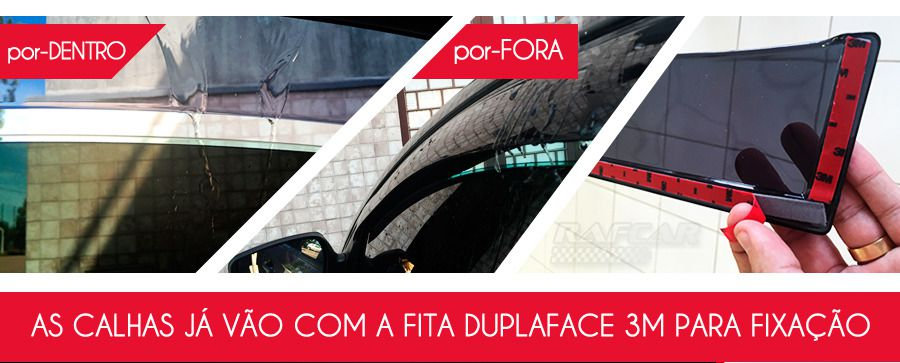 Calha de chuva New Fiesta Hatch 11/15 4 portas Ford