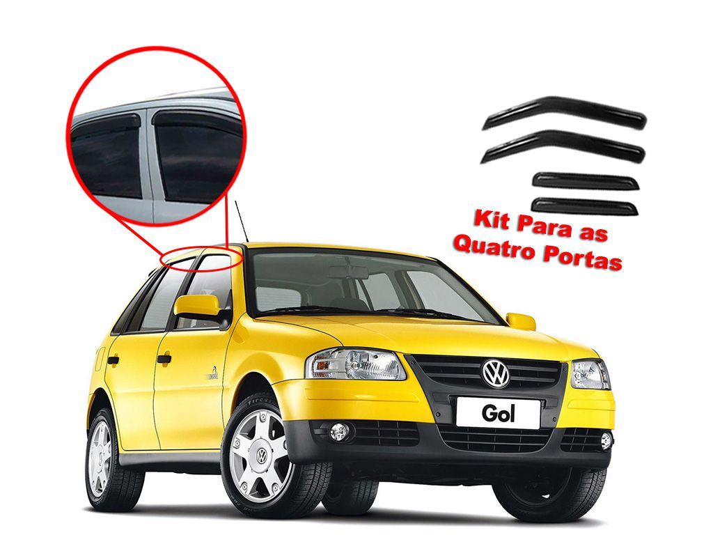 Calha de chuva Gol G2, G3 G4 4 portas Volkswagen