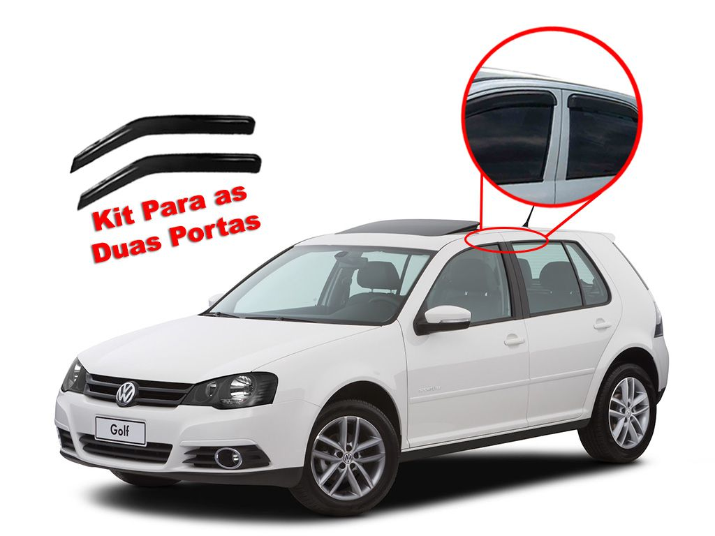 Calha de chuva Golf 2000/2013 4 portas Volkswagen