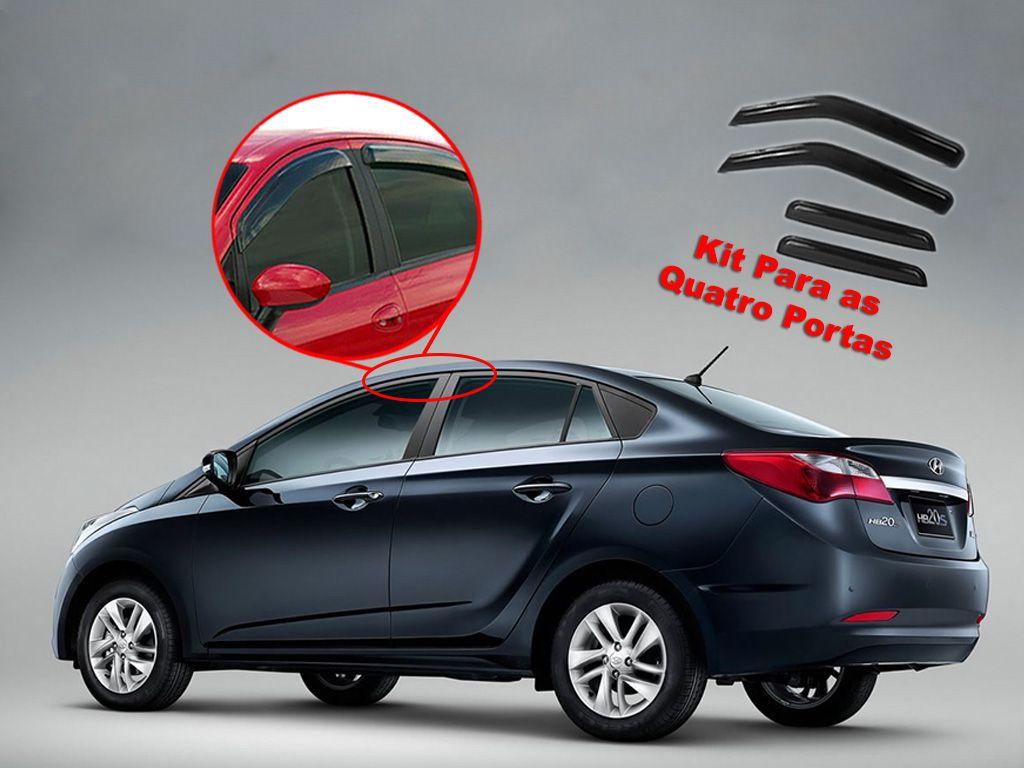 Calha de chuva HB20S até 2015 4 portas Hyundai