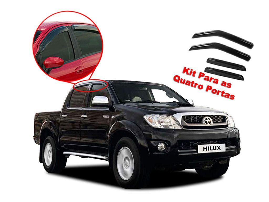 Calha de chuva Hilux Cab. Dupla 05/15 4 portas Toyota
