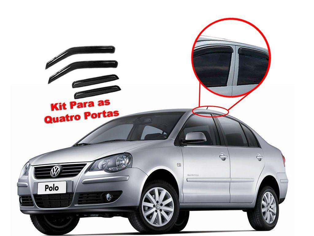 Calha de chuva Polo Sedan Volkswagen