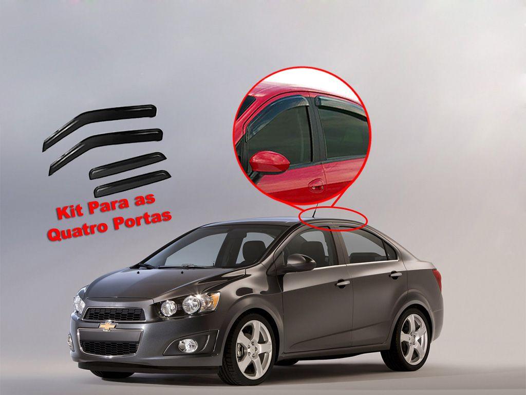 Calha de chuva Sonic Sedan 12/14 4 portas Chevrolet