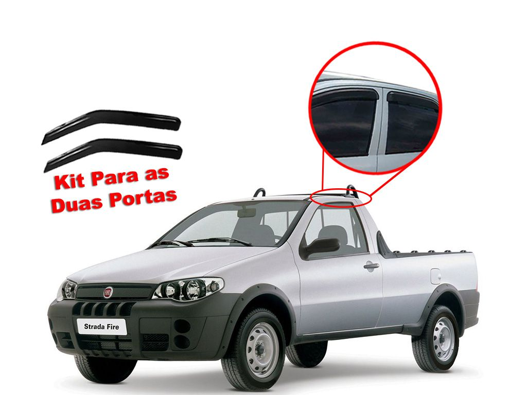 Calha de chuva Strada 96/15 Cab Simples Fiat