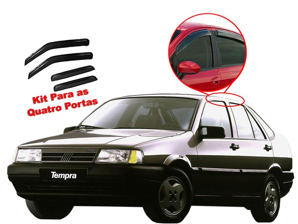 Calha de chuva Tempra 92/99 4 portas Fiat