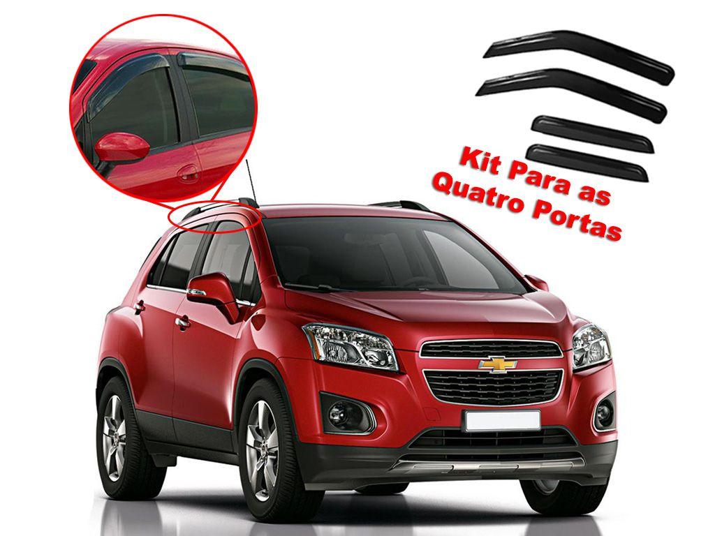 Calha de chuva Tracker 13/15 4 portas Chevrolet