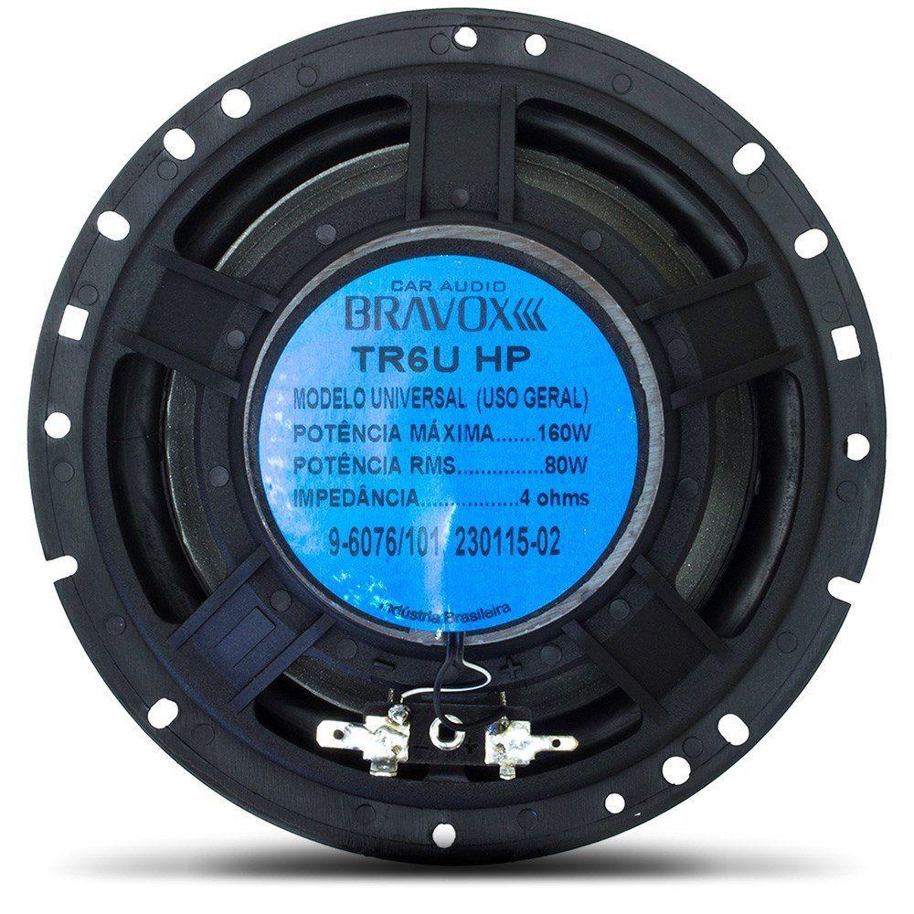 """Alto Falante 6"""" Polegadas Triaxial Bravox 160w RMS (TR6U-HP)"""