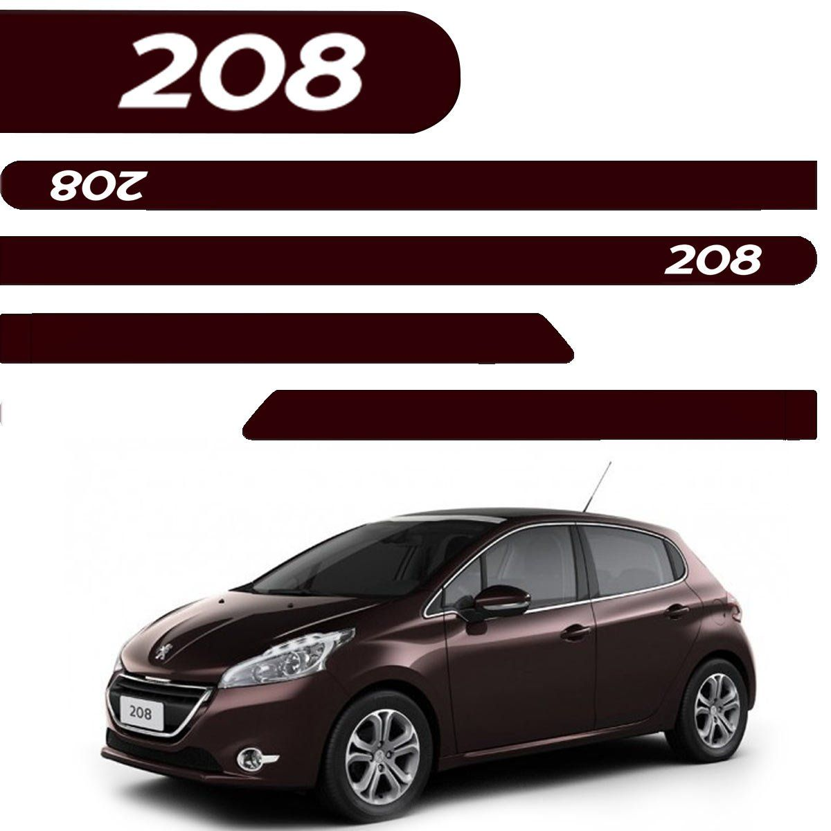 Friso Lateral Peugeot 208 Personalizado