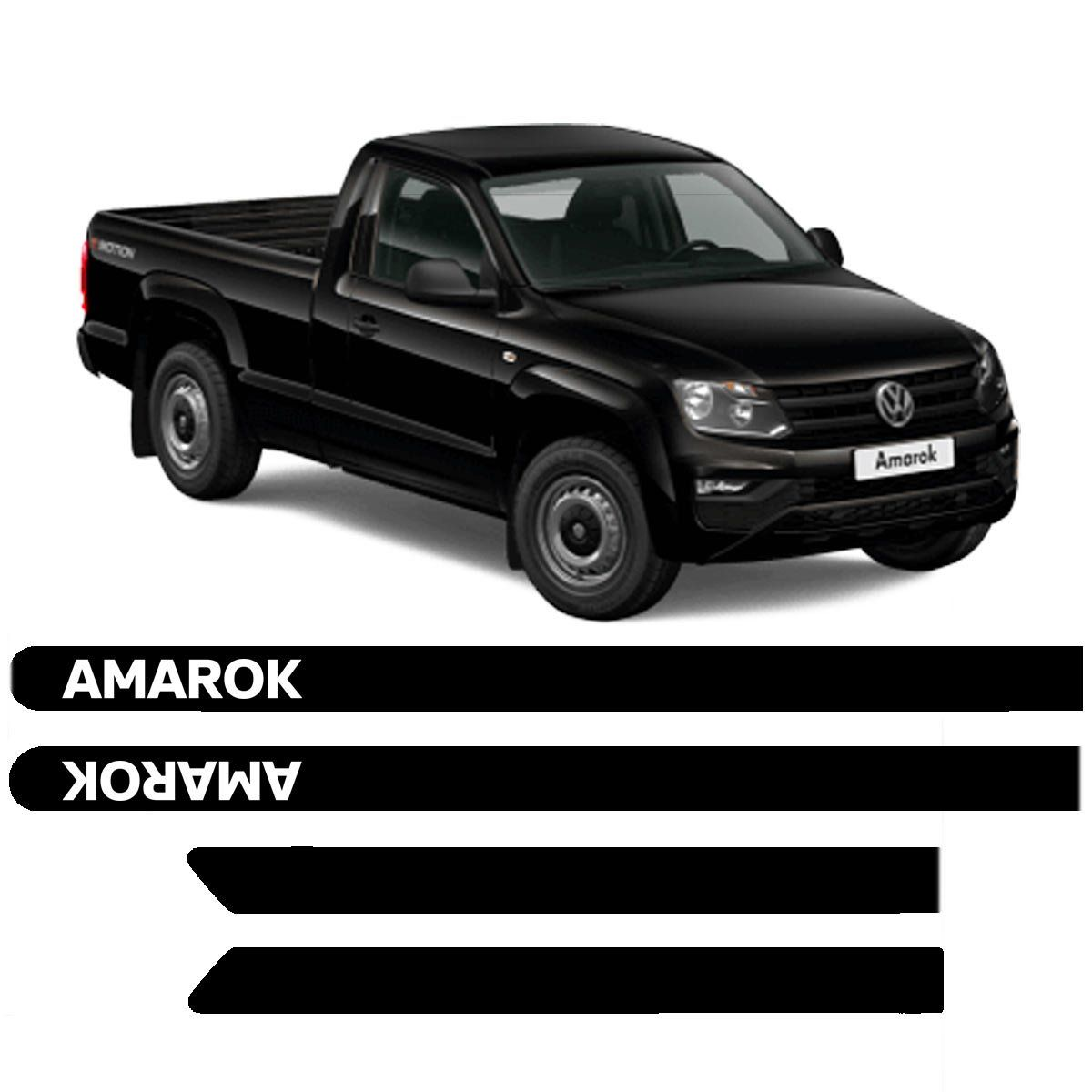 Friso Lateral VW Amarok Cabine Simples Pintado