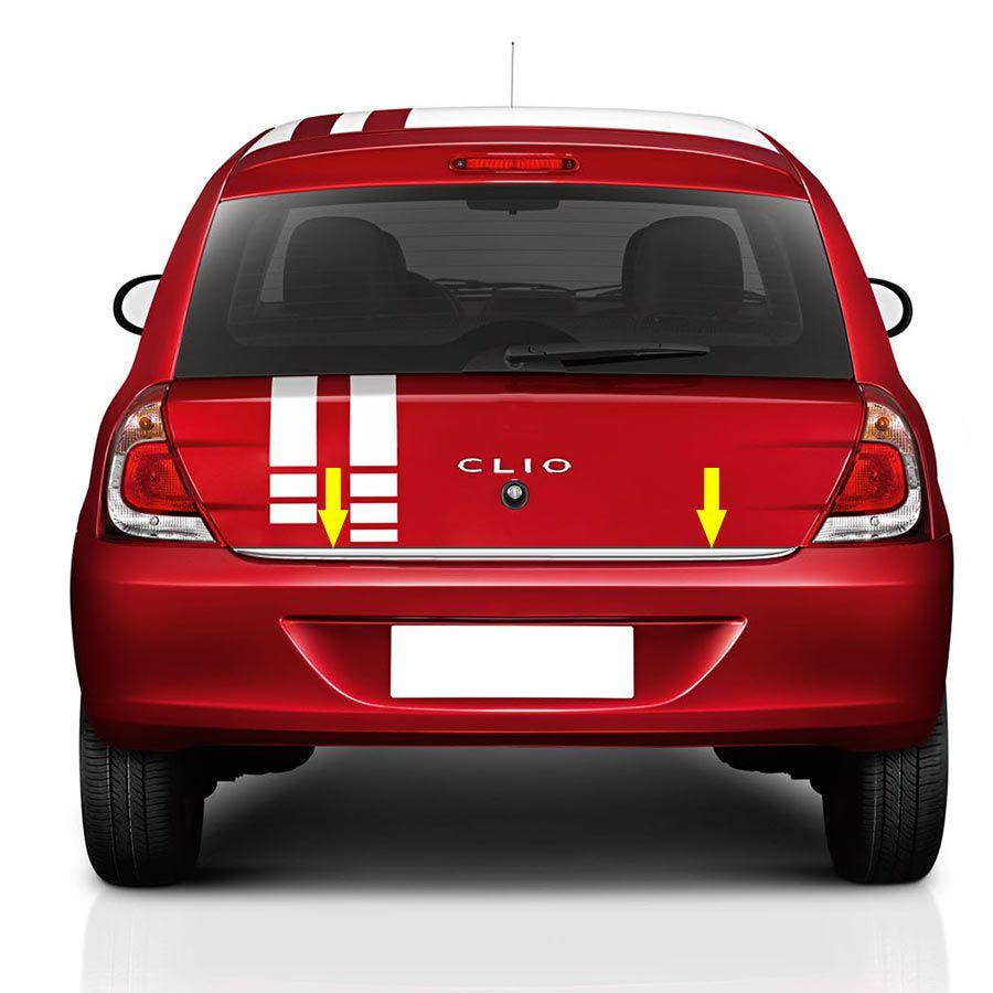 Friso Porta Malas Cromado Clio Hatch 06/17 Resinado