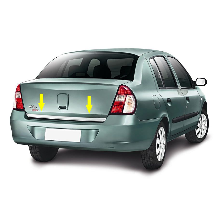 Friso Porta Malas Cromado Clio Sedan 06/08 Resinado