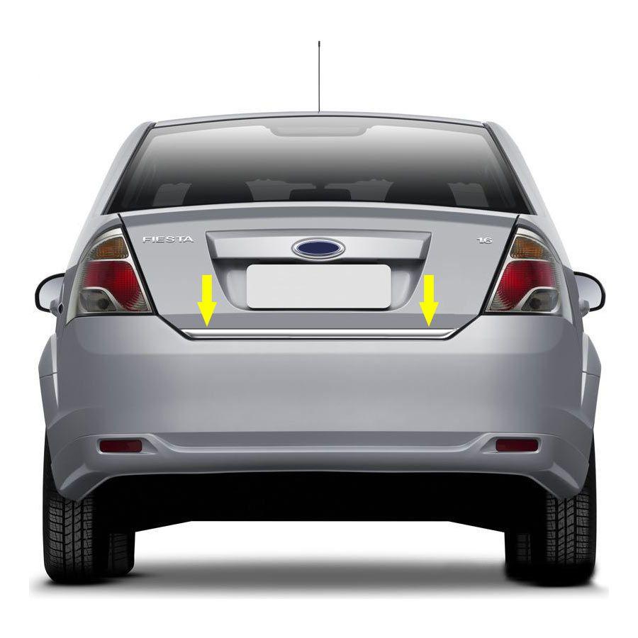 Friso Porta Malas Cromado Fiesta Sedan 11/13 Resinado
