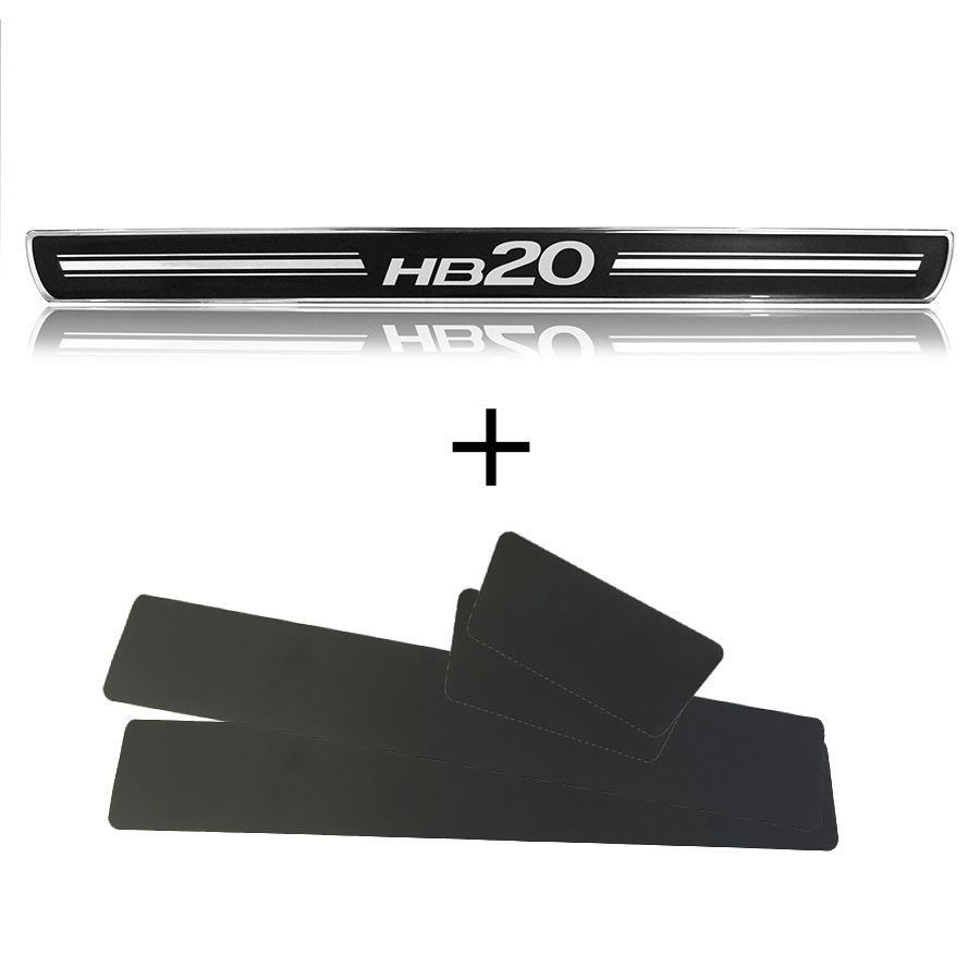 Jogo de soleira de porta Hyundai HB20 12/20 PREMIUM
