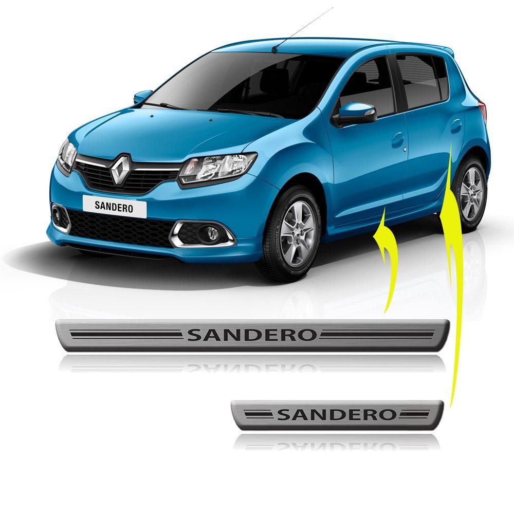 Jogo de soleira Novo Sandero 15 17 Renault