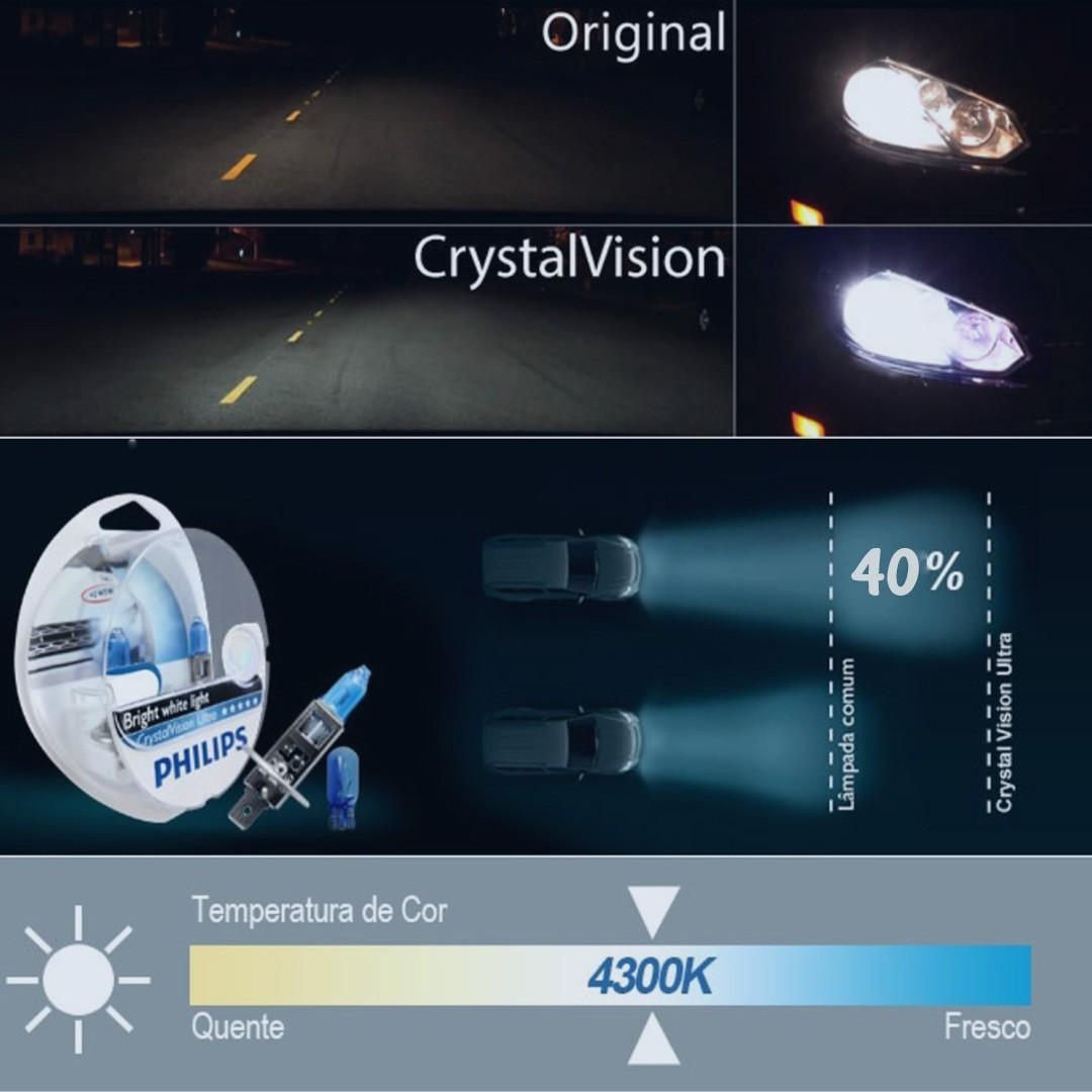 Lâmpada Crystal Vision Ultra HB4 Philips