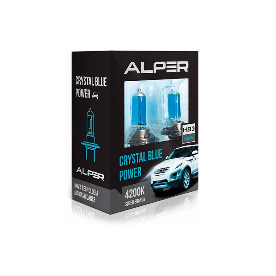 Lâmpada Super Branca Alper Chrystal Blue Power HB3 9005 65W