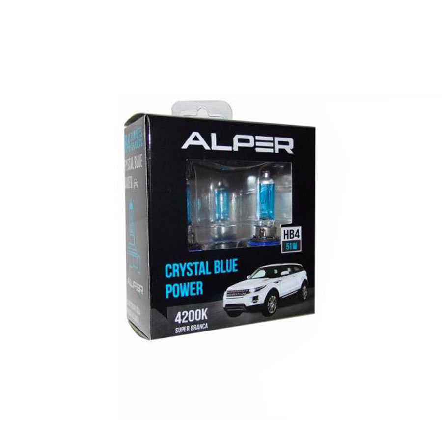 Lâmpada Super Branca Alper Chrystal Blue Power HB4 9006 55W