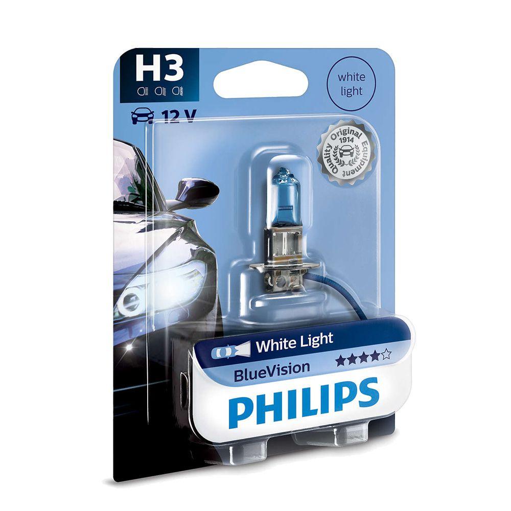 Lâmpada Blue Vision H3 Philips (Unitário)
