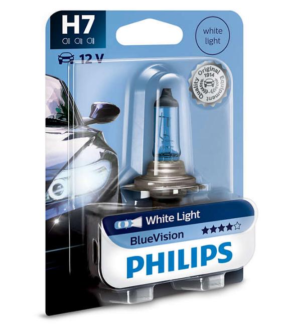 Lâmpada  Blue Vision H7 Philips (Unitário)