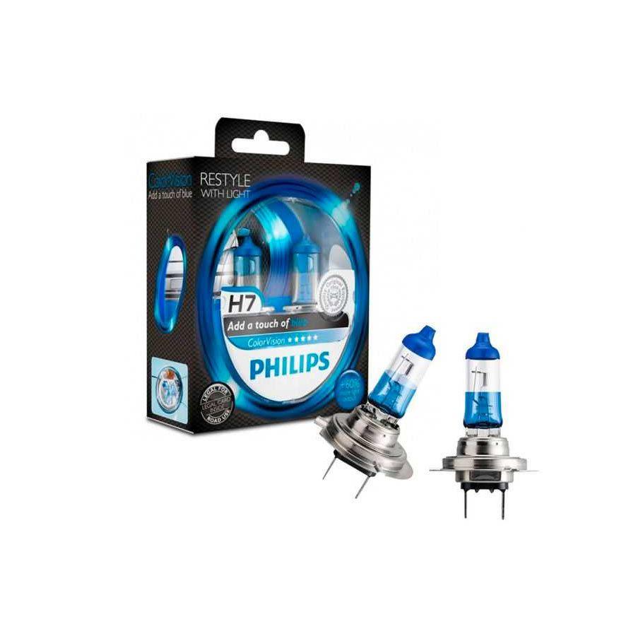Lâmpada Super Branca Color Vision H7 Blue Philips