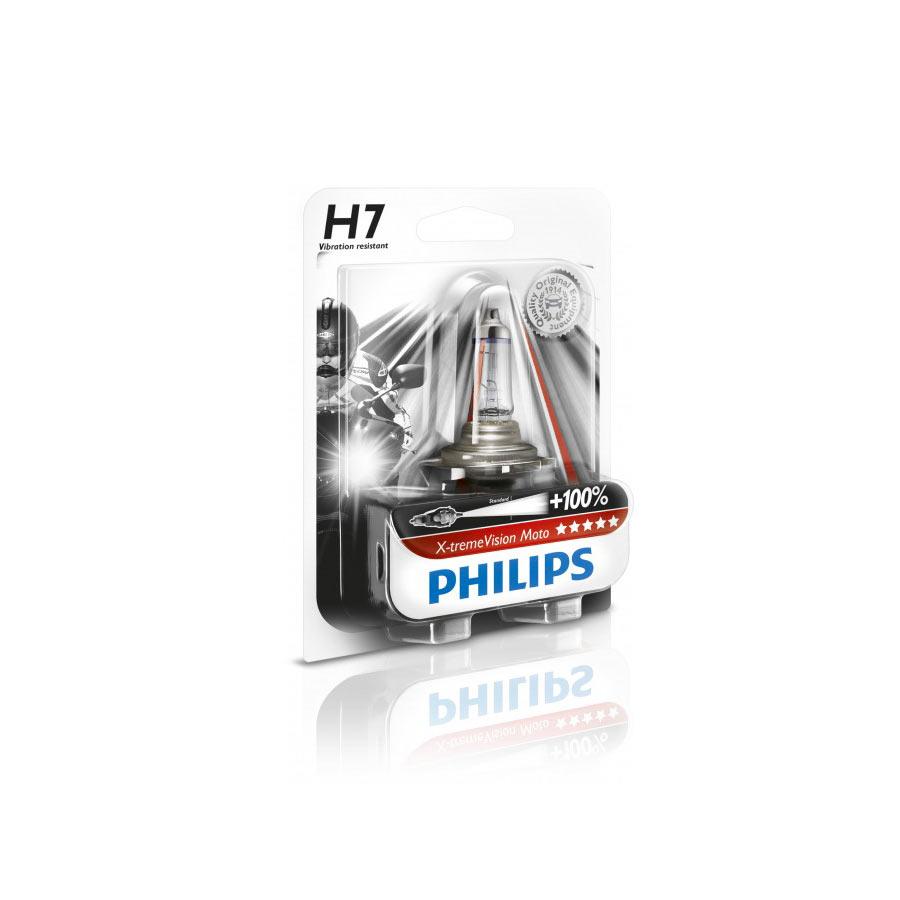 Lâmpada Moto Xtreme Vision H7 Philips (unitária) 100%