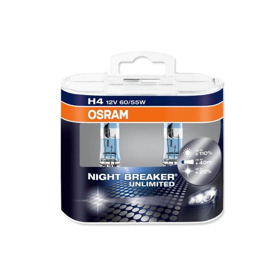 Lâmpada Super Branca Osram Night Breaker Plus H4 60/55W