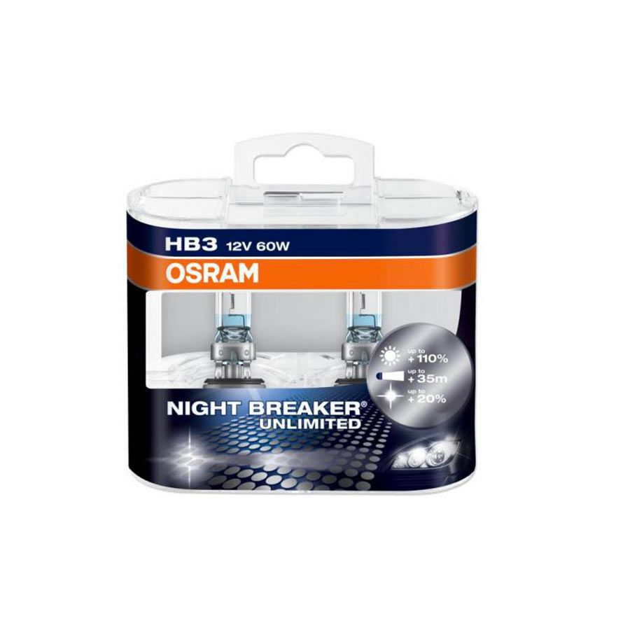 Lâmpada Super Branca Osram Night Breaker Plus HB3 9005 60W