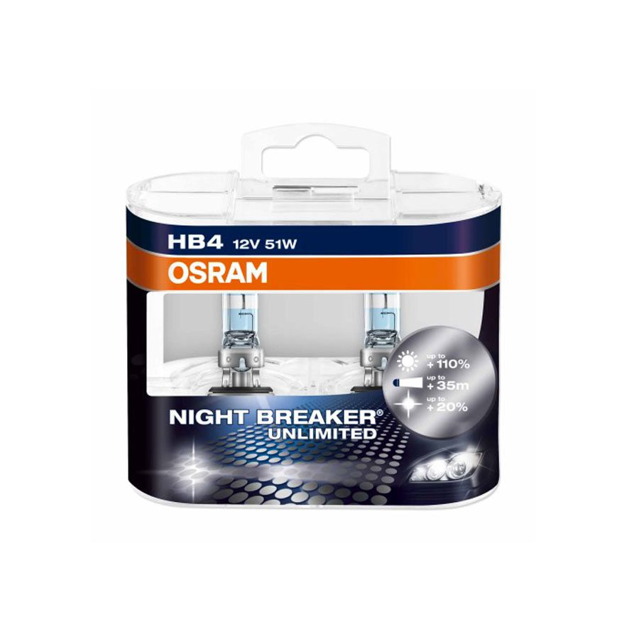 Lâmpada Super Branca Osram Night Breaker Plus HB4 9006 51W